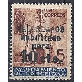 1936 ED. Barcelona - Telégrafos 9 **