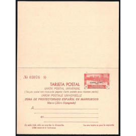 1935 ED. 4 * Enteros Postales Cabo Juby