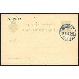 1905 ED. 3 MF Enteros Postales Elobey, Annobón y Corisco