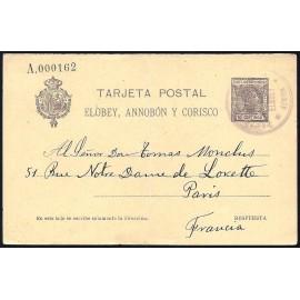 1907 ED. 6v us Enteros Postales Elobey, Annobón y Corisco