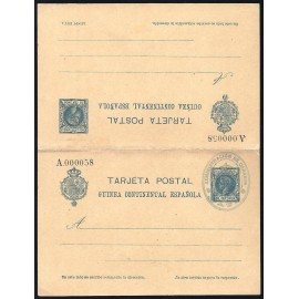 1905 ED. 4 MF Enteros Postales Guinea