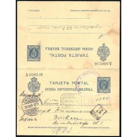 1905 ED. 4 us Enteros Postales Guinea
