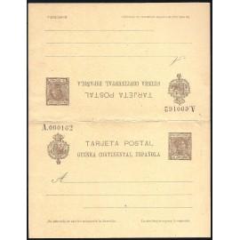 1907 ED. 6 * Enteros Postales Guinea