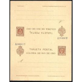 1905 ED. 2 ** Enteros Postales Río de Oro