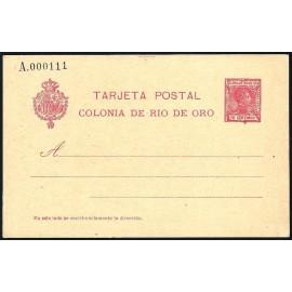 1907 ED. 3 * Enteros Postales Río de Oro