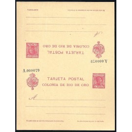1907 ED. 4 ** Enteros Postales Río de Oro