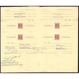 1898 ED. 35iT * [x2] Enteros Postales Cuba