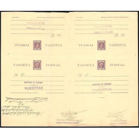 1898 ED. 37iT * [x2] Enteros Postales Cuba