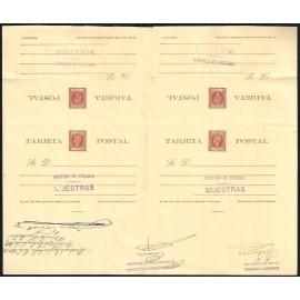 1898 ED. 38iT * [x2] Enteros Postales Cuba