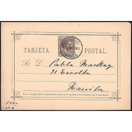1889 ED. 04 us Enteros Postales Filipinas