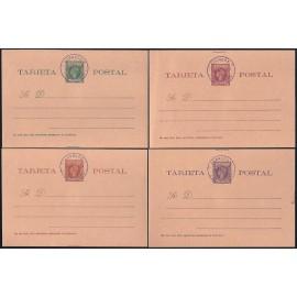 1899 ED. 1/4 MF Enteros Postales Fernando Poo