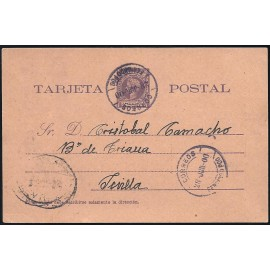 1899 ED. 3 us Enteros Postales Fernando Poo
