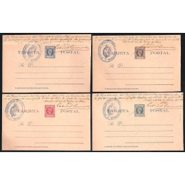 1900 ED. 09iT/12iT * Enteros Postales Fernando Poo