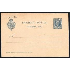 1903 ED. 17 * Enteros Postales Fernando Poo
