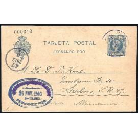 1903 ED. 17 us Enteros Postales Fernando Poo