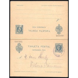 1903 ED. 18 MF Enteros Postales Fernando Poo
