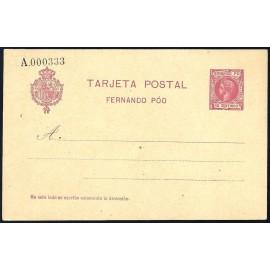 1905 ED. 19 * Enteros Postales Fernando Poo