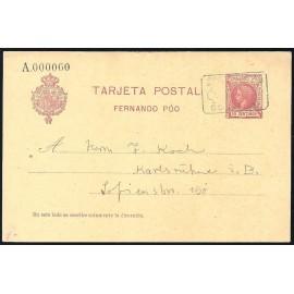 1905 ED. 19 MF Enteros Postales Fernando Poo