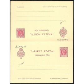 1905 ED. 20 * Enteros Postales Fernando Poo