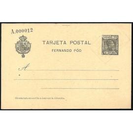 1907 ED. 21 MF Enteros Postales Fernando Poo