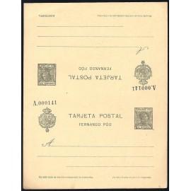 1907 ED. 22 ** Enteros Postales Fernando Poo