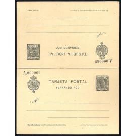 1907 ED. 22 * Enteros Postales Fernando Poo