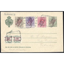 1916 ED. 09 us Enteros Postales Marruecos