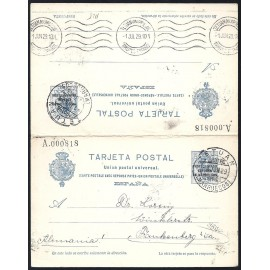 1924 ED. 18 us Enteros Postales Marruecos