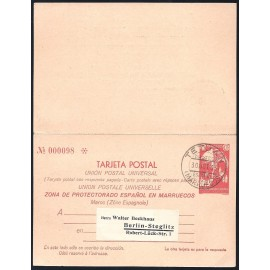 1933 ED. 23 MF Enteros Postales Marruecos
