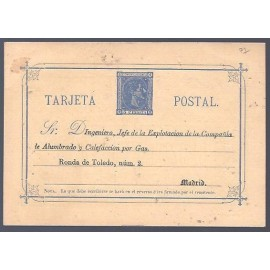1875 ED. Tarjetas Entero Postales 8 *
