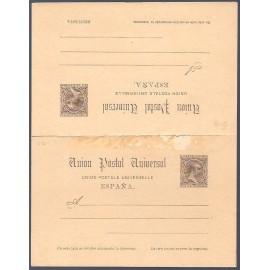 1889 ED. Tarjetas Entero Postales 24 *