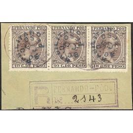 1896 ED. Fernando Poo 34 us [x3]