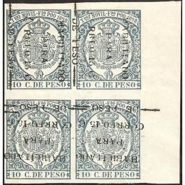1898 ED. Fernando Poo 43c/43chx * [x4]
