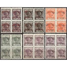 1908 ED. Elobey, Annobón y Corisco 50A/50F ** [x4]
