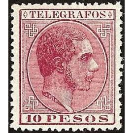 1880 ED. Filipinas Telégrafos 8 *
