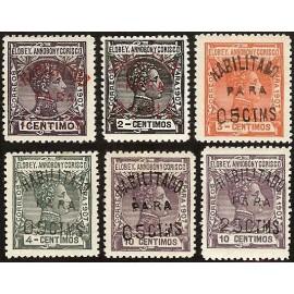 1908 ED. Elobey, Annobón y Corisco 50A/50F *