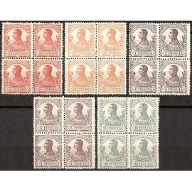 1912 ED. Guinea 93/97 ** [x4]